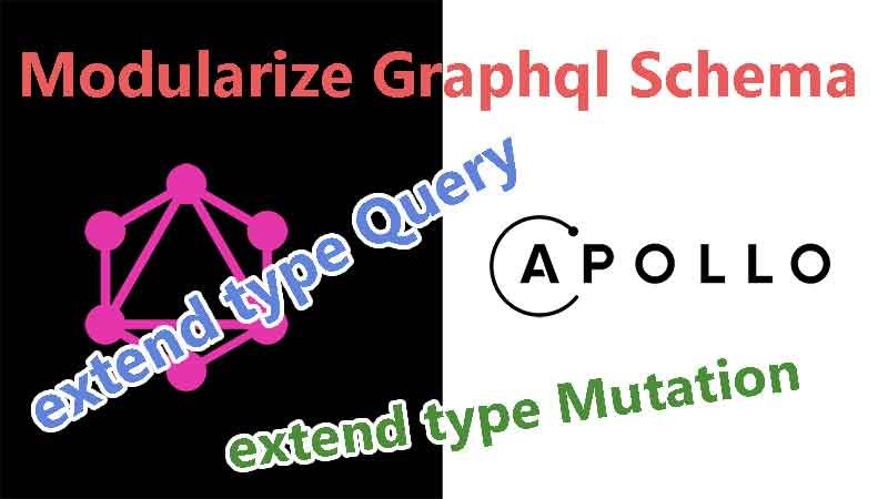 graphql schema Modularize Cover